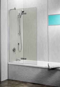 Finnese 2 Panel Folding Bath Screen Door Closed